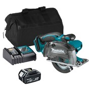 Makita DCS552ITS 18v LXT 136mm Metal Cutting Circular Saw with 1 x 3Ah Battery, Charger and Bag