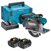 Makita DCS552RTJ Makita DCS552RTJ 18V LXT 136mm Metal Cutting Circular Saw with 2 x 5Ah Batteries, Charger and Case