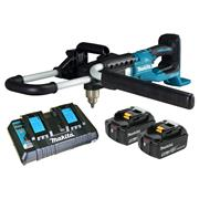 Makita DDG460 Makita 36v (Twin 18V) Brushless Earth Auger with 2x 5Ah Batteries, Charger & Case