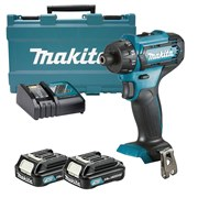 Makita DF033DWAE 12v CXT Drill Driver with 2 x 2Ah Batteries, Charger and Case