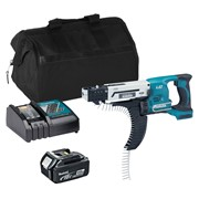 Makita DFR550ITS 18v LXT 25-55mm Auto-Feed Screwdriver with 1 x 3Ah Battery, Charger and Bag