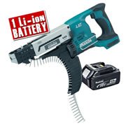Makita DFR550Z4 Makita 18v Li-ion Autofeed Screwgun Body + 1 x 4.0Ah Battery