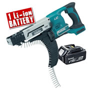 Makita DFR550Z5 Makita 18v Li-ion Autofeed Screwgun Body + 1 x 5.0Ah Battery