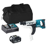 Makita DFR750ITS 18v LXT 45-75mm Auto-Feed Screwdriver with  1 x 3Ah Battery, Charger and Bag