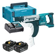 Makita DFR750RTJ Makita DFR750RTJ 18V Li-ion Autofeed Screwgun with 2 x 5Ah Batteries, Charger and Case