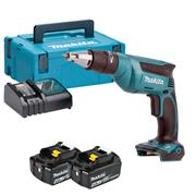 Makita DFS451RMJ 18v LXT Drywall Screwdriver with 2 x 4Ah Batteries, Charger and Case