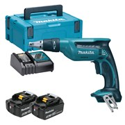 Makita DFS451RTJ Makita DFS451RTJ 18V LXT Drywall Screwdriver with 2 x 5Ah Batteries, Charger and Case