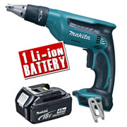 Makita DFS451Z4 Makita 18v li-ion Drywall Screwdriver Body + 1 x 4.0Ah Battery