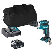 Makita DFS452ITS 18v LXT Brushless Drywall Screwdriver with 1 x 3Ah Battery, Charger and Bag