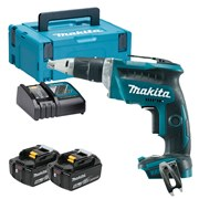 Makita DFS452RTJ Makita DFS452RTJ 18V LXT Brushless Drywall Screwdriver with 2 x 5Ah Batteries, Charger and Case