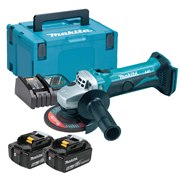 Makita DGA452RTJ Makita DGA452RTJ 18V LXT 115mm Grinder with 2 x 5.0Ah Batteries, Charger & Case