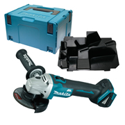 Makita DGA456ZSC 18v LXT Li-ion Brushless Cordless Grinder 115mm with Case and Inlay
