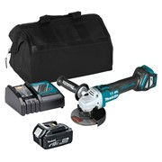 Makita DGA463ITS 18v LXT Brushless 115mm Grinder with 1 x 3Ah Battery, Charger and Bag