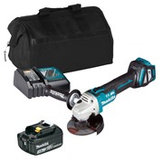 Makita DGA467ITS 18v LXT Brushless 115mm Grinder with 1 x 3Ah Battery, Charger and Bag