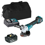 Makita DGA513ITS 18v LXT Brushless 125mm Grinder with 1 x 3Ah Battery, Charger and Bag
