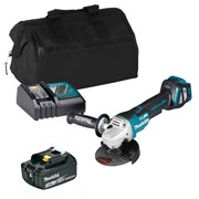 Makita DGA517ITS 18v LXT Brushless 125mm Grinder with 1 x 3Ah Battery, Charger and Bag