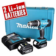 Makita DHP453RFE 18v Li-ion 2 Speed Combi Drill