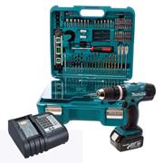Makita DHP453SFTK 18v Combi Drill with Accessory Set