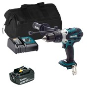 Makita DHP458ITS 18v LXT Combi Drill with 1 x 3Ah Battery, Charger and Bag