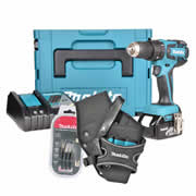 Makita DHP459-KIT Makita 18v Li-ion Brushless Hammer Drill Driver Kit