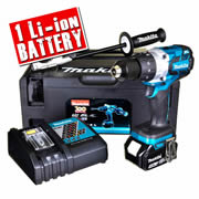 Makita DHP481SP1R Makita 18v Li-ion Anniversary Brushless Hammer Drill Driver (1 x 5.0Ah Battery)