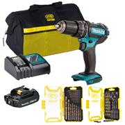 Makita DHP482PACK 18v LXT Combi Drill with 1 x 2Ah Battery, Charger, Bag and Accessories