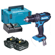 18v Li-ion LXT Combi Drill with 2 x 3Ah Batteries, Charger and Case