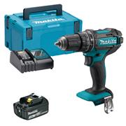 Makita DHP482RJX 18v LXT Combi Drill with 1 x 3Ah Battery, Charger and Case