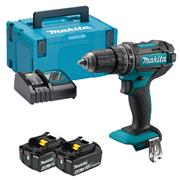 Makita DHP482RMJ 18v LXT Combi Drill with 2 x 4Ah Batteries, Charger and Case
