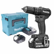 Makita DHP483BRJ 18v Black Brushless Combi Drill with 2 x 3.0Ah Batteries