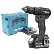 Makita DHP483BRJX 18v Black Brushless Combi Drill with 1 x 3.0Ah Battery