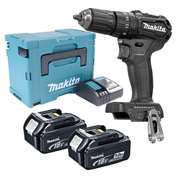 Makita DHP483BTJ 18v Black Brushless Combi Drill with 2 x 5.0Ah Batteries