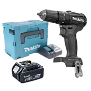 Makita DHP483BTJX 18v Black Brushless Combi Drill with 1 x 5.0Ah Battery