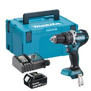 Makita DHP484RJX 18v LXT Brushless Combi Drill with 1 x 3Ah Battery, Charger and Case