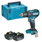 DHP485RJ 18v LXT Brushless Combi Drill with 2 x 3Ah Batteries, Charger and Case