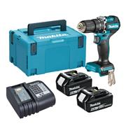 Makita DHP487 Makita DHP487 18V LXT Brushless Combi Drill with 2x 6.0Ah Batteries, Charger & Case