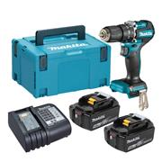 Makita DHP487 Makita DHP487 18V LXT Brushless Combi Drill with 2x 5.0Ah Batteries, Charger & Case