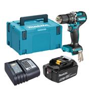 Makita DHP487 Makita DHP487 18V LXT Brushless Combi Drill with 1x 5.0Ah Battery, Charger & Case