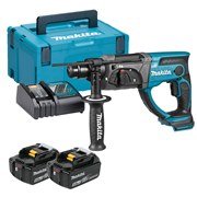 Makita DHR202RTJ Makita DHR202RTJ 18V LXT SDS+ Drill with 2 x 5Ah Batteries, Charger and Case
