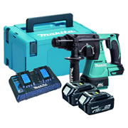 Makita DHR242KIT 18v Li-ion Brushless SDS+ Hammer Drill Ki c/w 2 x 5ah Batteries