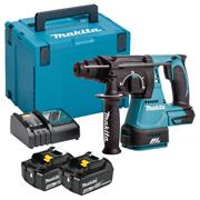 Makita DHR242RMX 18v LXT Brushless SDS+ Drill with 2 x 4Ah Batteries, Charger and Case