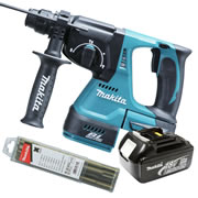 Makita DHR242Z3 Makita 18v Li-ion Brushless SDS+ Drill Body + 1 x 3.0Ah Battery