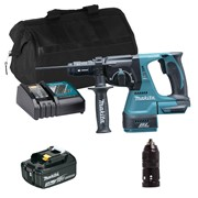 Makita DHR243ITS Makita DHR243ITS 18V LXT Brushless SDS Drill with Quick Chuck, 1 x 3Ah Battery, Charger and Bag