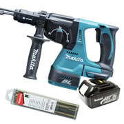 Makita DHR243Z3 Makita 18v Li-Ion Brushless SDS+ & Drill Chuck Body + 1 x 3.0Ah Battery