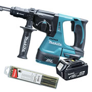 Makita DHR243-Z4 Makita 18v Li-Ion Brushless SDS+ & Drill Chuck Body + 1 x 4.0Ah Battery