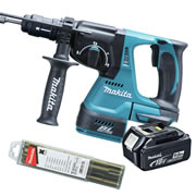 Makita DHR243-Z5 Makita 18v Li-Ion Brushless SDS+ & Drill Chuck Body + 1 x 5.0Ah Battery