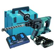 Makita DHR263KIT 36v Li-ion SDS+ Hammer Drill Ki c/w 2 x 5ah Batteries