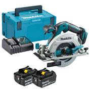 Makita DHS680RMJ 18v LXT Brushless 165mm Circular Saw with 2 x 4Ah Batteries, Charger and Case