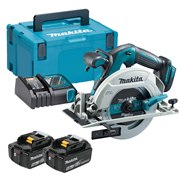 Makita DHS680RTJ Makita DHS680RTJ 18V LXT Brushless 165mm Circular Saw with 2 x 5Ah Batteries, Charger and Case