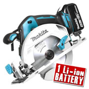 Makita DHS680Z5 Makita 18v Li-ion Brushless Circular Saw 165mm Body + 1 x 5.0Ah Battery